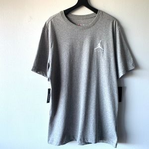 Nike Jordan Air Logo Embroidered T-shirt Gray